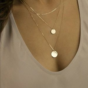 Jewelry - 🆕 Layered Disc Necklace